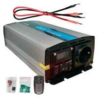 Inversor Onda Pura 1000W 12v LCD con Mando Distancia ideal para Autocaravanas