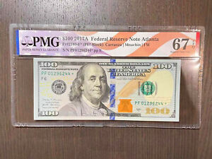 $100-2017A Federal Reserve Note Atlanta PMG 67 EPQ  Replacement Star