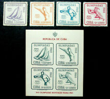 1960 Latin America, Rome Olympics, 4 Stamps & Souvenir Sheet, Mnh