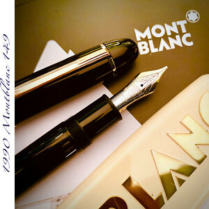 1990 MONTBLANC 149 BROAD 14K B STUB MEISTERSTUCK LARGE THICK VINTAG FOUNTAIN PEN