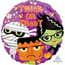 Party Supplies Decorations Halloween Trick or Treat Monsters 45cm Foil Balloon