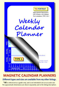 BLUE A5 MAGNETIC CALENDAR PLANNER, BESPOKE, CHOOSE START MONTH, YEAR & TYPE