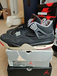 1999 Nike Air Jordan IV (4) Black/Red Bred Sz 11.5 w/ Original Box! Vintage