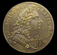 More details for 1714 george i coronation 25mm bronze medalet