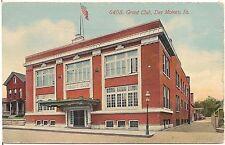 Grant Club in Des Moines IA Postcard