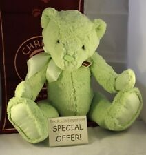 SPECIAL OFFER! Charlie Bears Large First Bear MEADOW GREEN (Brand New!) RRP £25