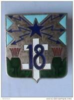 Insigne pucelle Armée Française 18°RT Régiment de Transmissions