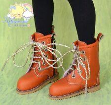 """Releaserain Doll Shoes Martin Stitch Boots Orange FIT MSD BJD Minifee 14""""Kish"""