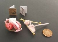 Handmade Miniature Dolls House 1/12th scale   Knitting set