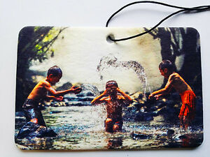 Your Picture On A Rectangular Car Air Freshener - Landscape