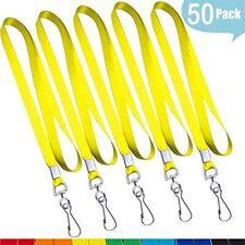 Yellow Lanyard Flat Bulk Lanyards Id Badges Comfortable Neck Straps Nylon Cruise