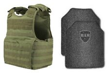 Body Armor | Bullet Proof Vest | AR500 Steel Plates | 11x14 Base Coating XPC OD