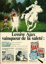 Publicité ancienne lessive Ajax 1968 issue de magazine