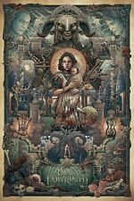 """Pan's Labyrinth by Ise Ananphada """"Princess of the Moon"""" Screen Print Poster"""