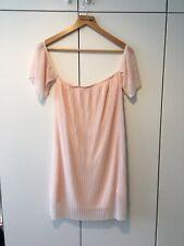 Vestido de verano Boohoo Rosa Hombro manga corta túnica plisada 12