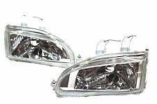 92-95 Honda Civic Chrome Glass Head lights w/City Light 9003/H4 2/3/4 EG EJ EH