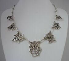 Stunning Rare Unusual Vintage Modernist Jack Spencer Sterling Silver Necklace