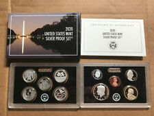 2020 S SILVER PROOF Set 10 Coins w/ BOX COA - NO Reverse Jefferson Nickel