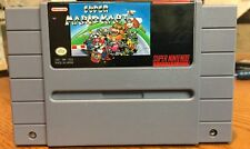 Super Mario Kart Super Nintendo SNES Cleaned Tested Working