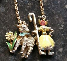 FABULOUS RARE Vintage Coro Necklace MARY & HER LITTLE LAMB