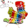Baby Kids Musical Wooden Cute  Xylophone Eight-Tone Piano Early Education Toy G