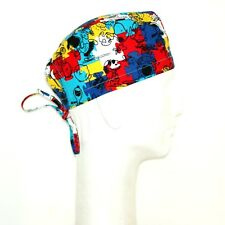Colorful Peanuts Gang  theme  scrub hat