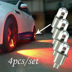 4x SUV Auto Car Wheel Tire Tyre Air Valve Stem LED Light Caps Cover Accessories