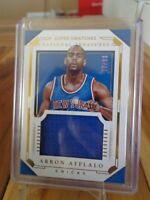 2015-16 PANINI NATIONAL TREASURES SUPER SWATCHES ARRON AFFLALO JERSEY 77 /99
