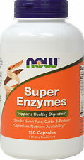 Now Foods SUPER ENZYMES 180 capsules SUPPORTS HEALTHY DIGESTION, GUT HEALTH