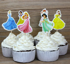 24Pcs Snow princesses Cupcake Pick/ Flag Toppers Birthday Wedding Party Cake
