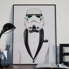 STORMTROOPER STAR WARS SUIT A3 POP ART POSTER PRINT - LIMITED EDITION OF 100