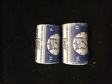 2001 Mint Half Dollar Rolls P&D