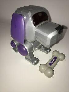 Vintage Poo-Chi Robot Dog With Bone Sega Tiger Electronics 1999/2000 WORKING