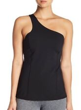 NEW ZELLA One Shoulder Cut Out Tank Top Size S Small Black $65