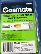 """LPG Brass Gas Adaptor Converts BBQ Inlet from 1/4"""" BSP to 3/8i"""" BS HEATER COOKER"""