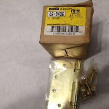 """NEW STANLEY FBB179 06-8436 4.5"""" X 4.5"""" Bearing Hinge Bright Brass Full Mortise"""