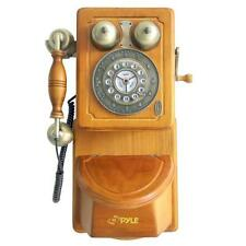 Pyle PRT45 Retro Style Home Country Wall Phone W/ Handcrafted Classic Design