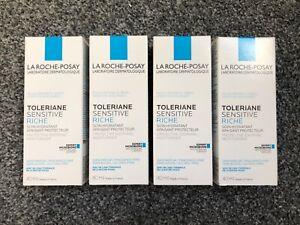 4 x 40ml La Roche-Posay Toleriane Sensitive Riche Moisturiser (Toleraine) 10/22