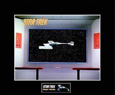 """STAR TREK Enterprise Bridge - Klingon D7 Warship 8""""x10"""" Photo-11""""x14"""" Matted"""