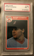 1985 Fleer Roger Clemens Baseball Card Rookie #155 Red Sox Pitcher Graded PSA 7