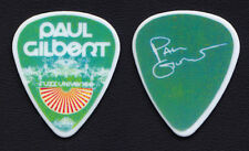 Paul Gilbert Signature Green/White Guitar Pick - 2011 Fuzz Universe Tour Mr. Big