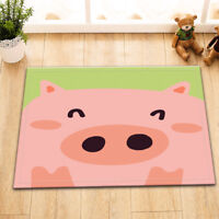 Cute Pink Pig Kitchen Bathroom Non-Slip Shower Floor Bath Door Mat Rug 24x16""