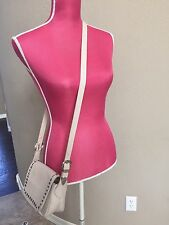 Studed Bone Ivory Leather Small Crossbody Bag Handbag Topshop