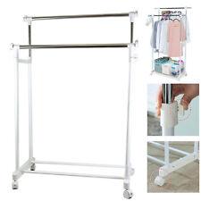 Premium Clothing Rolling Double Garment Rack Hanger  Double Rail Clothes Hanger