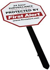 First Alert YS-1 Security Yard Sign (White), New, Free Shipping