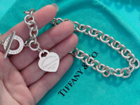 Tiffany & Co Return to Tiffany Sterling Silver Heart Toggle Necklace (New Style)