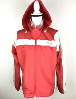 The North Face Hydrenalite Womens Jacket Windbreaker Hooded Sz Medium Red/Orange