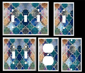 COLORFUL MOROCCAN PATTERN PRINT LIGHT SWITCH COVER PLATE  HOME DECOR