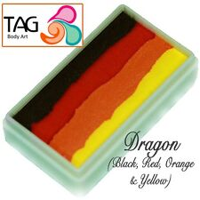 TAG Body Art One Stroke Professional Face Paint Cake (30g) ~ Dragon