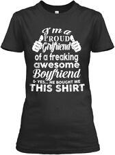 Perfect Gift For Your Girlfriend! - I'm A Proud Gildan Women's Tee T-Shirt